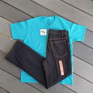 Faded Glory 2piece lot boys jeans and shir…